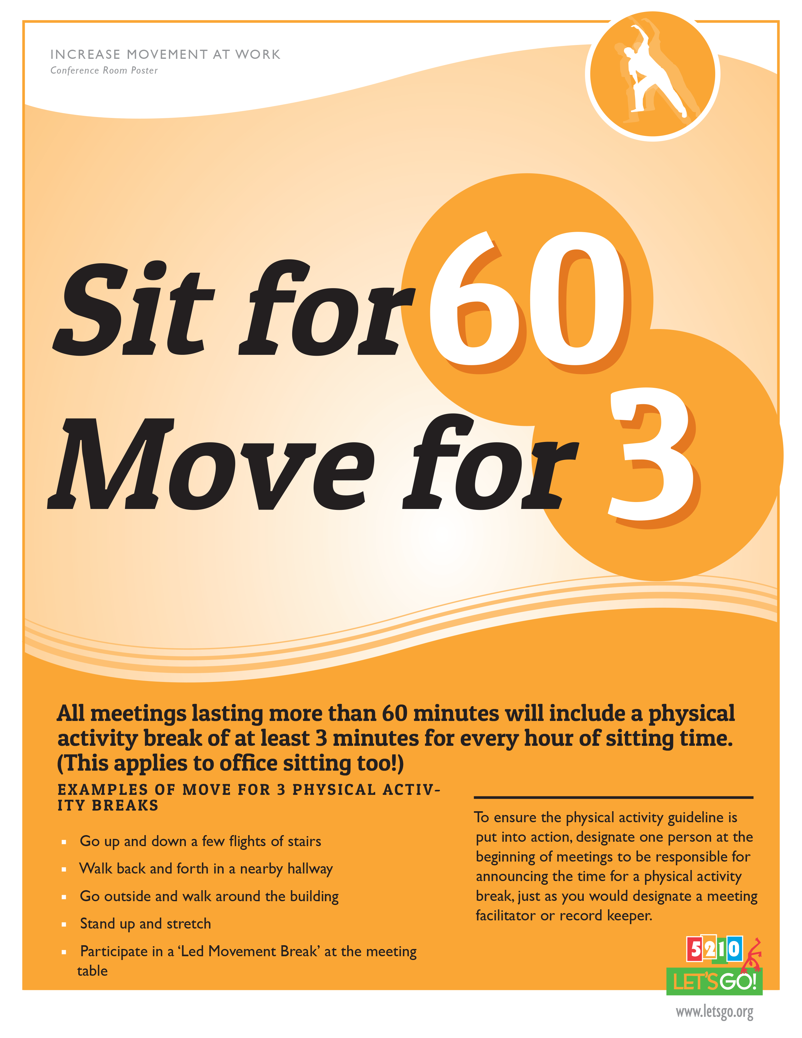 Sit for 60 Move for 3