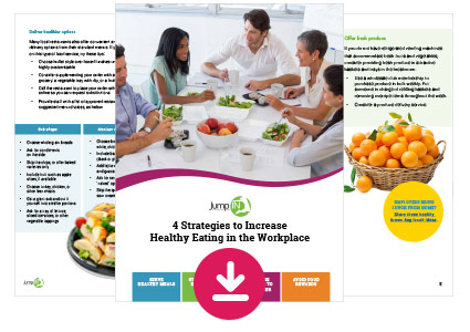 """4 Strategies to Increase Healthy Eating in the Workplace"" guide"